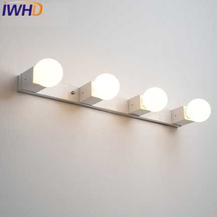 iwhd 4 heads iron wall sconce lamp modern led wall lamps bedroom stair light fixtures lampara pared home lighting wandlamp - Wall Lamps For Bedroom