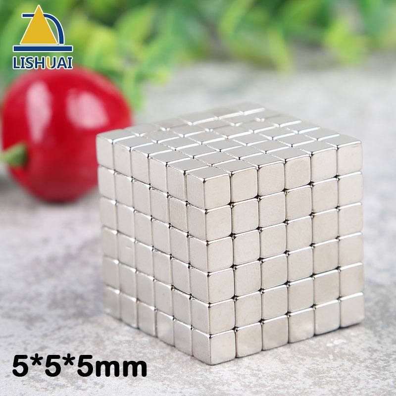 LISHUAI5x5x5mm Neodymium Magic Cubes Magnet Square Permanent Magnets Block as Children DIY Gift/Puzzle Toy for Education 5*5*5mm neje yw0007 2 diy puzzle toy space sand air magic clay plasticine sand for kids pink 0 5kg