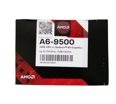AMD APU A6 9500 CPU Processor Boxed with radiator Dual- Core 3.5GHz 1MB Socket AM4 Cache With Radeon R5 Desktop NEW desktop cpu 939 socket tester cpu socket analyzer dummy load fake load with led