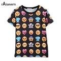 Raisevern Caliente Moda Emoji Emoticonos Estilo 3D T Shirt Summer Ropa Divertida Caliente Camiseta Unisex de Las Mujeres/de los hombres Top Tees ventas al por mayor