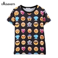 Raisevern Hot Fashion Emoji 3D T Shirt Summer Funny Clothes Hot Style Emoticons Tshirt Unisex Women/men Top Tees Wholesales