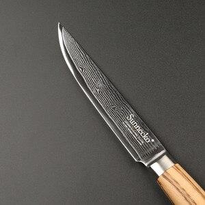 Image 3 - SUNNECKO 5 Utiltiy nóż 73 warstwy Damascus Steel japoński VG10 ostry nóż uniwersalne noże kuchenne oryginalny drewniany uchwyt