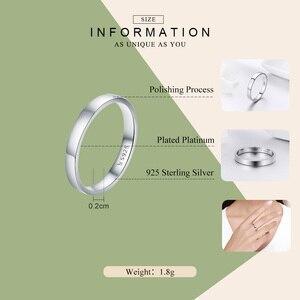Image 4 - WOSTU Твердые чистое серебро 925 пробы простой перстень для женщин высокие полированные классические ретро часы кольца обручальные ювелирные изделия подарок FIR343