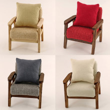 1/12 Newest Pillow Cushions For Sofa Couch Bed Dollhouse Miniature Furniture Toys Without Sofa Chair 2Pcs/lot(China)