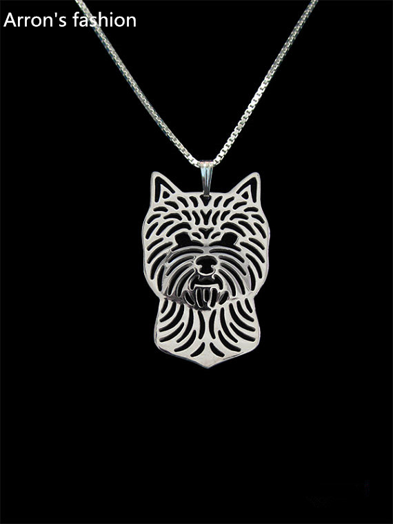 Norwich Terrier Collection of Necklaces with Image of a Dog Geometric