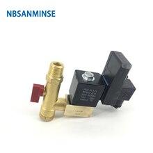 NBSANMINSE SR-G-15 4Mpa G 1/2  High Pressure Electronic Drain Valves Air Compressor Valve Brass Solenoid Drainer