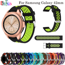 42mm 20mm band For samsung Galaxy watch straps Replacement Silicone sport Round hole ventilation Gear S2 strap