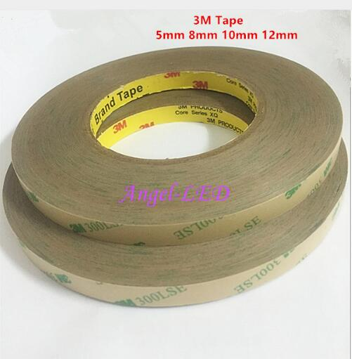 Led Strips Intellective New 50m/roll 8mm 10mm 12mm Double Sided Tape 3m Adhesive Tape For 3528 5050 Ws2811 Ws2801 Led Strips Free Shipping Selected Material