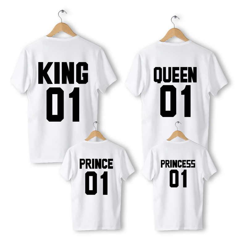Familia familia juego trajes ropa daddys chica madre hija ropa hijo de algodón Casual Padre hijo de Rey reina camiseta
