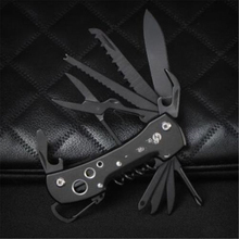 Black Multifunctional Swiss Knife Multi Purpose Army Folding Pocket Outdoor Camping Survival EDC Tool