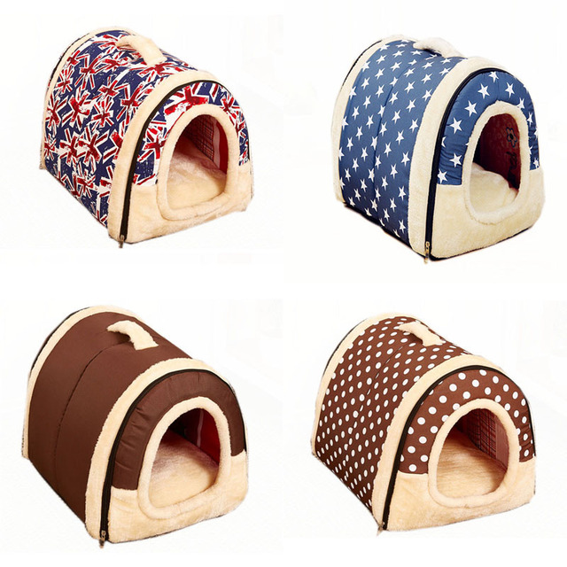 Multifuctional Cat Dog House Nest With Mat Foldable Pet Dog Bed Cat Bed House For Small Medium Dogs Travel Pet Bed Bag Product