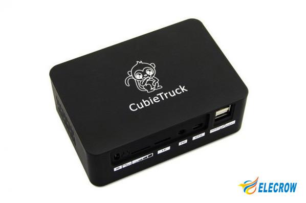 Procesamiento de liquidación Cubieboard3 Cubietruck Caso Negro Caja de Baterías De Litio Caso Kit DIY Del envío Libre