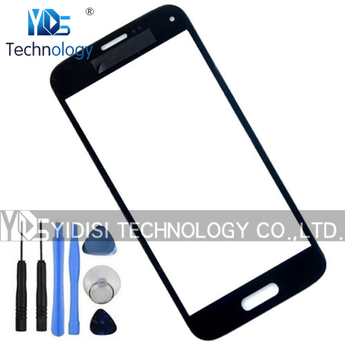 New Front <font><b>Glass</b></font> For <font><b>SAMSUNG</b></font> <font><b>Galaxy</b></font> <font><b>S5</b></font> mini G800 G800F Front Screen Panel LCD Outer <font><b>Glass</b></font> Cover <font><b>Replacement</b></font> Part image