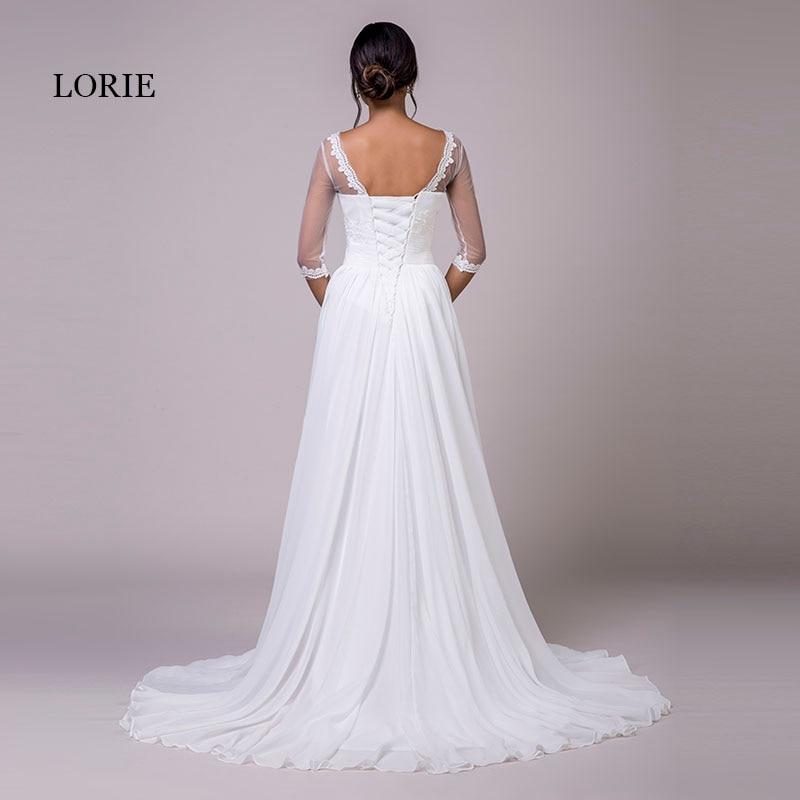 LORIE Φορέματα νυφικά με μανίκια Scoop A-line - Γαμήλια φορέματα - Φωτογραφία 2