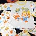 Pororo Redemoinho impresso Crianças casa terno de mangas compridas Pijama Adolescente vestir conjuntos Crianças trajes Do Natal Do Bebê Pijamas JB9001