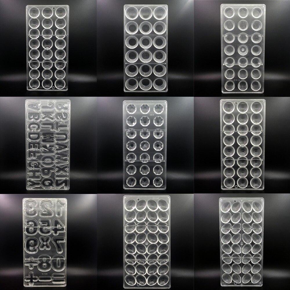 144 stile 3D Polycarbonat Schokolade Formen für Weihnachten Kunststoff Backen Gebäck Bäckerei Werkzeuge Tablett Schokolade Form Backformen Mould