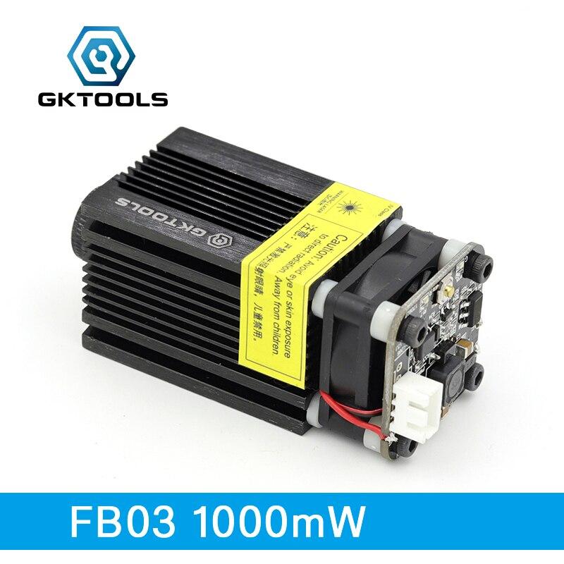цена FB03 1000mW 445nm 12V Blue Laser Module 2.54-3P TTL/PWM Modulation For Laser Engraver Can Control Laser Power And Adjust Focus