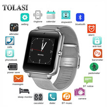 TOLASI Smart Watch GT08 Z60 Men Women Bluetooth Wrist Smartwatch Support SIM/TF Card Wristwatch For Apple Android Phone PK DZ09(China)