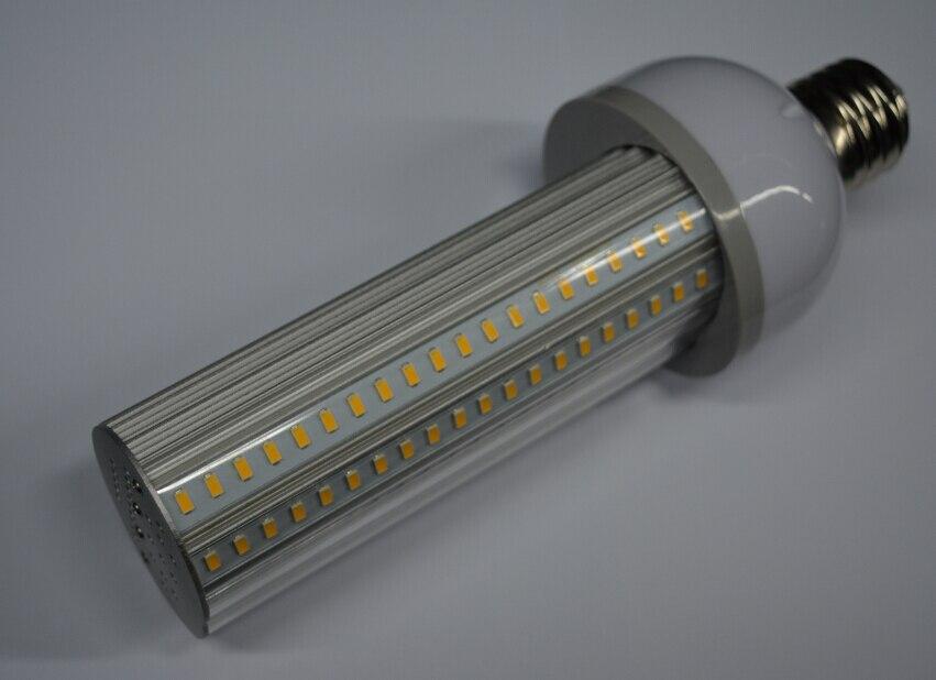 ФОТО 12pcs/lot E27/E40 55W 220 degree LED street Light l30LM/W IP64  hps street light replacement led corn bulb 3 years warranty