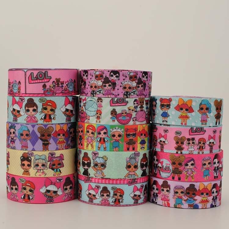 50% распродажа; 1 «и 7/8» Лидер продаж кукла ленты девушка ленты grosgrain ленты 5/10/20 метров/печати случайные доставки