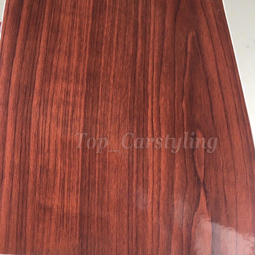 gloss dark woodgrain vinyl car wrapping film wood stickers (2)