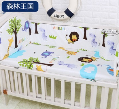Promotion! 5PCS baby bedding set baby bumper bed sheet crib bedding set,include:(bumpers+sheet)