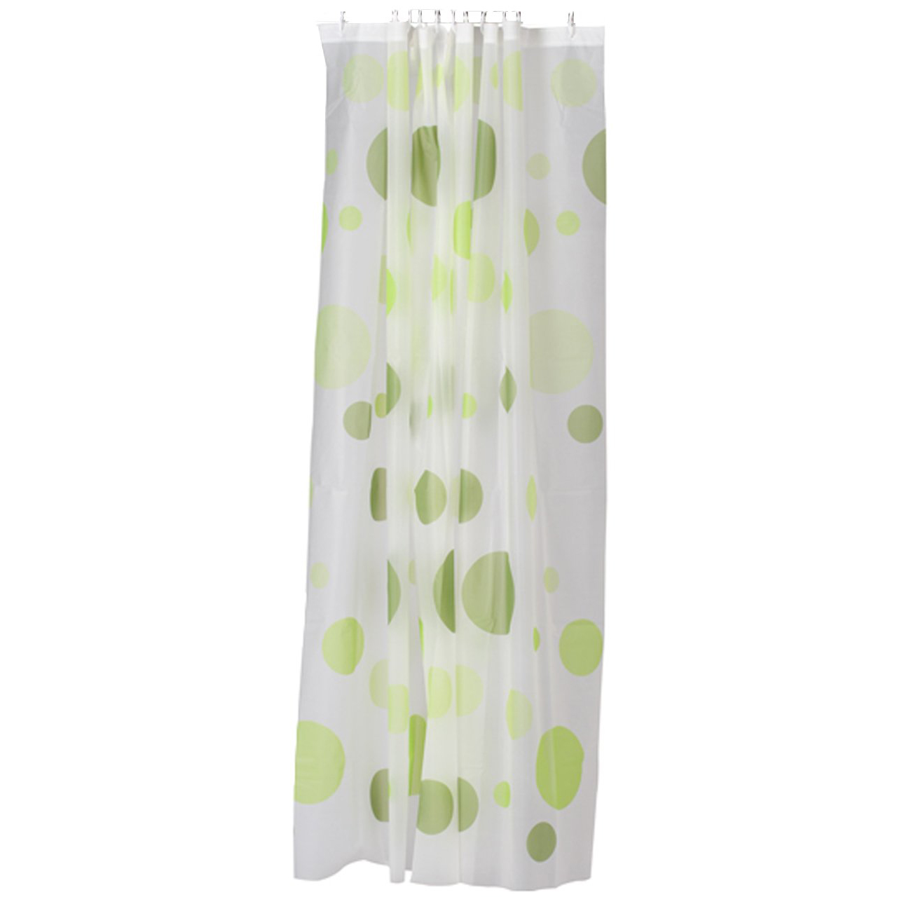 PEVA Shower Curtain Bath Curtain with Rod Hooks---Dots Pattern