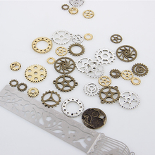 2017 New Arrival 50g Steampunk Cyberpunnk Mix Gear Cogs Watch Parts Pendant Alloy Metal DIY Accessory Jewelry Creative Fashion