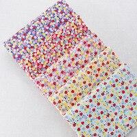 Artesanais diy roupas de pano importado japonês e vento pano tecido de algodão colcha de impressão floral morango panda