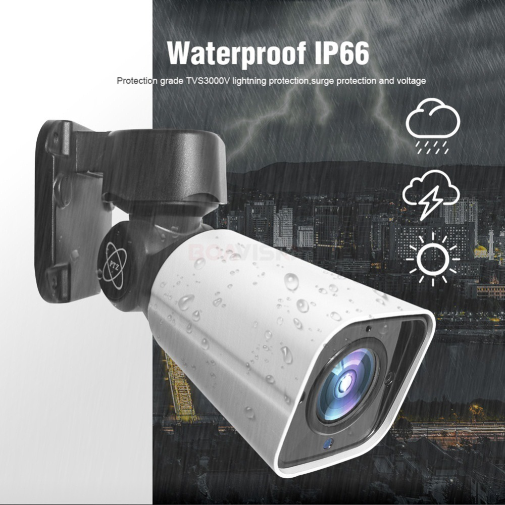 Image 4 - 4X Zoom 5MP PTZ IP Camera Outdoor 2592*1944 48V POE PTZ Bullet Camera Waterproof IP66 IR 50M CCTV Security Camera IOS Android-in Surveillance Cameras from Security & Protection