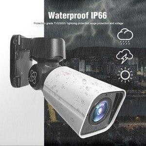 Image 4 - 4X Zoom 5MP PTZ IP kamera açık 2592*1944 48V POE PTZ Bullet kamera su geçirmez IP66 IR 50M CCTV güvenlik kamera IOS Android