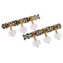 AO-020HV1P 1Pcs(Left + right) Classical Guitar Tuning Key Gold /Black Plated Peg Tuner Machine Head(long) String Tuner