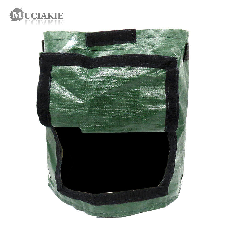 MUCIAKIE 1PC 7 Gallon Potato Grow Bags Vegetables Planting Bags Home Garden Tomato Ventilate Breathable Moist Growing Planter