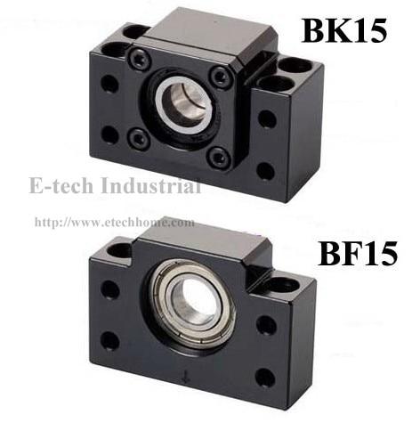 Концевые опоры BK15 + БЭЭФ15 для SFU2010 SFU2005 швп конец Поддержка BF15BK15 с глубокий шаровой подшипник внутри