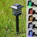 Retro Fora Da Terra Estaca Luz Solar Lawn Lâmpadas Holofotes Corredor Caminho LEVOU Lanterna À Prova D' Água Ao Ar Livre Jardim Quintal Iluminação