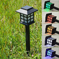 Retro Outside Land Stake Light Waterproof Solar Lawn Lamps Spotlight LED Path Hallway Lantern Outdoor Garden Backyard  Lighting
