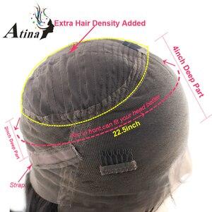 Image 4 - Ombre Vurgulamak Kahverengi Sarışın Renkli Insan Saçı Peruk Derin 360 Dantel Frontal Peruk Ön Koparıp Bebek Saç Vücut Dalga remy Atina