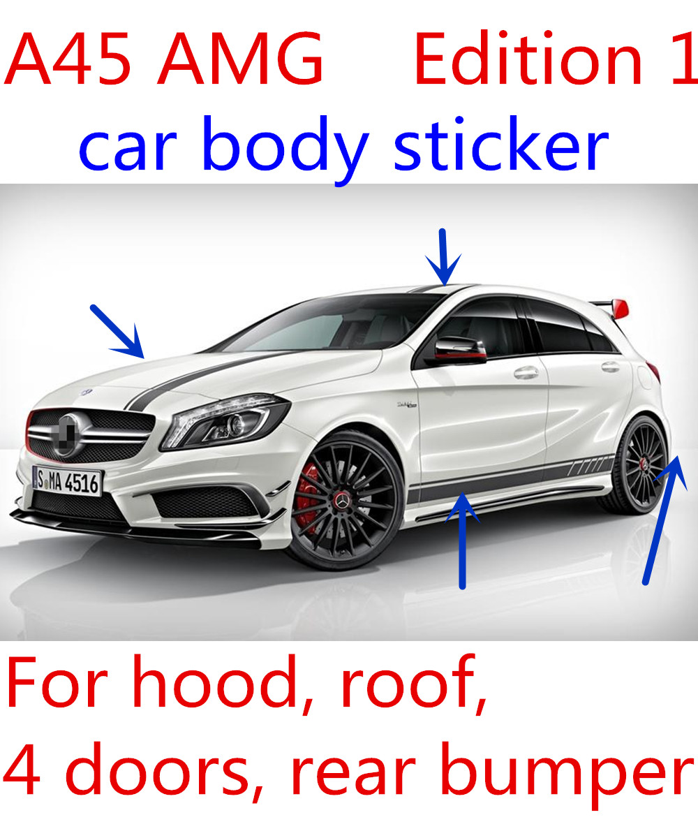 Car full body sticker design - Suitable For A45 Sticker Car Body Sticker A45 Amg Sticker Edition1 Sticker A200 A180 A250 W176