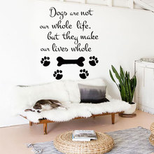 Dog Wall Stickers Grooming Salon Decoration Pets Decal Removable Vinyl Quote Sticker Shop Art RL11