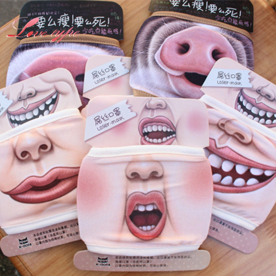 6Styles Villain Joke Masks Lower Half Face Expression Pig Cotton Face Mask Event Christmas masquerade Party Cosplay Supplies