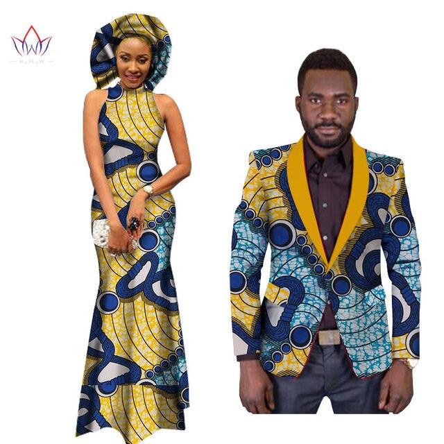 African Dresses for Women African Dress Bazin Riche Women Maxi Dress Mens Blazer Slim Fit Blazer Men Casual Plus Size 6XL WYQ50