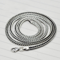 "Vintage Fox Tail 925 Sterling Silver Snake Chain Necklace Men 18"" 20"" 22"" 24"""