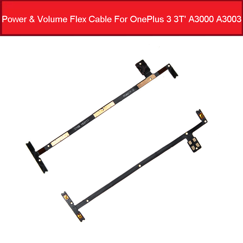Power Volume Side Button Flex Cable For OnePlus 3 3T' A3000 A3003 On Off Power Volume Flex Ribbon Replacement Parts