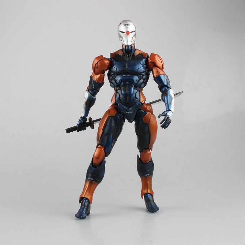 Metal Gear Solid Solidus Snake Play Arts Kai Gray Fox Dark Blue Ver Cyborg Ninja PA 27cm PVC Action Figure Doll Toys Kids Gift metal gear solid v the phantom pain play arts flaming man action figure super hero