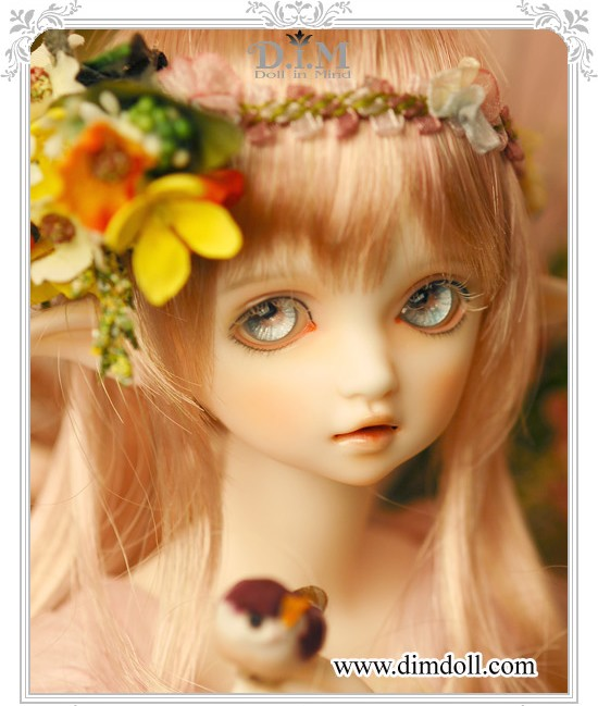 BJD SD doll doll 1/4 DIM flowen F 4 points sister baby girl free shipping