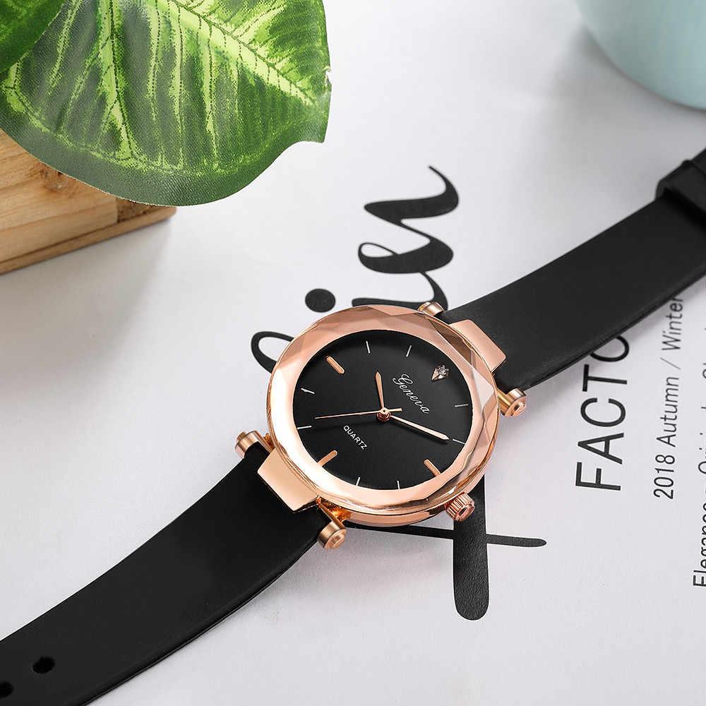 Vente chaude nouvelle marque de luxe genève montre femmes montres silice Quartz robe dames montre-bracelet étanche relogio feminino