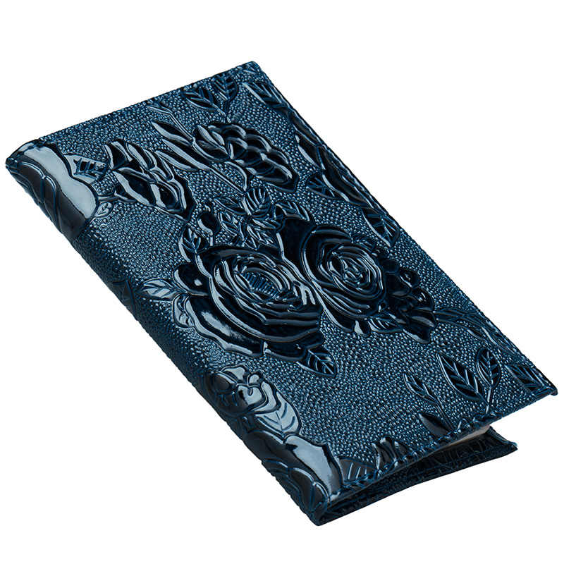 1 Pc Blue Fashion passport holder women pu leather passport cover travel cover for documents travel wallet for passport case New