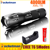 Lanterna CREE XM L T6 4000LM Tactical Flashlight Torch Zoom Linternas LED Flashlight For 3xAAA Or