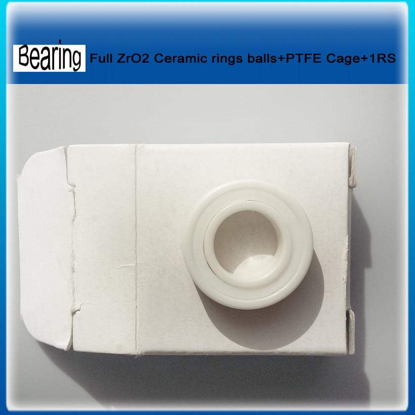 Single seals ZRO2 full Ceramic bearing 6002-rs 15x32x9mm ceramic bike repair bearing 1 piece ceramic 2 piece stacking
