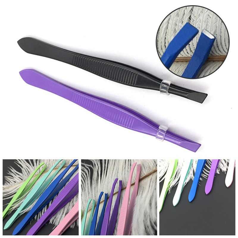 Belleza de acero inoxidable cejas pinzas inclinación la eliminación de pelo de clip para herramienta de maquillaje CONSEJO DE BELLEZA Dropshipping. exclusivo.